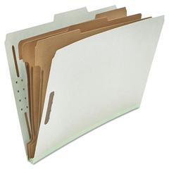 Universal Pressboard Classification Folder, Legal, Eight-Section, Gray, 10/Box