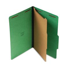 Universal Pressboard Folder, Legal, Four-Section, Emerald Green, 10/Box