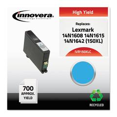 Innovera Remanufactured 14N1608 (150XL) High-Yield Ink, Cyan