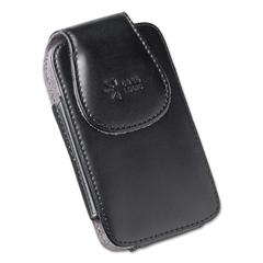 Vertical Pouch for Belt, Leather, Black