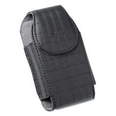 Case Logic Vertical Pouch for Belt, Plaid Design, Black