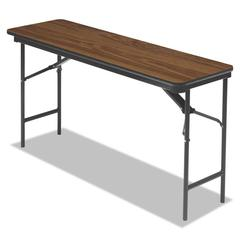 Premium Wood Laminate Folding Table, Rectangular, 60w x 18d x 29h, Oak