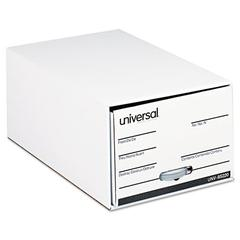 "Universal Storage Box Drawer Files, Legal, Fiberboard, 15"" x 24"" x 10"", White, 6/Carton"