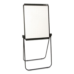 Unimate Total Erase Presentation Easel, 26 x 34, White Surface, Black Frame