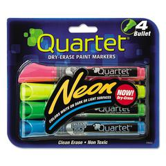 Neon Dry Erase Marker Set, Assorted, 4/Set