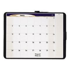 Quartet Tack & Write Monthly Calendar Board, 17 x 11, White Surface, Black Frame