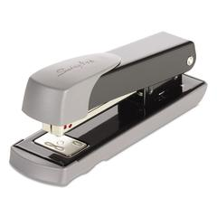 Compact Commercial Stapler, Half Strip, 20-Sheet Capacity, Black
