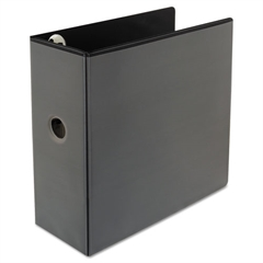 "Comfort Grip Deluxe Plus D-Ring View Binder, 5"" Capacity, 8-1/2 x 11, Black"