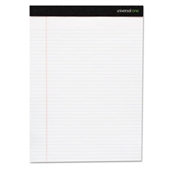 Premium Ruled Writing Pads, White, 8 1/2 x 11, Legal/Wide, 50 Sheets, 6 Pads