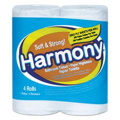 Atlas Paper Mills Harmony Toilet Tissue, 2-Ply, White, 176 Sheets/Roll, 96 Rolls/Carton