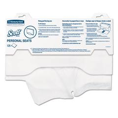 "Scott Personal Seats Sanitary Toilet Seat Covers, 15"" x 18"", 125/Pack"