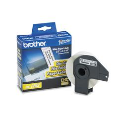 "Brother Die-Cut File Folder Labels, 0.66"" x 3-2/5"", White, 300/Roll"