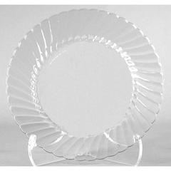 Classicware Plates, Plastic, 10.25 in, Clear, 12/Bag, 12 Bag/Carton