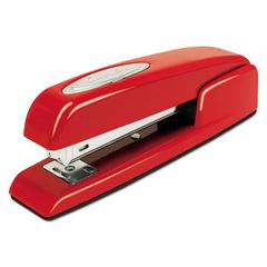 Swingline 747 Business Full Strip Desk Stapler, 25-Sheet Capacity, Rio Red