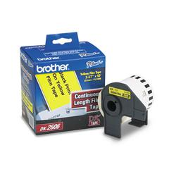 "Brother Continuous Film Label Tape, 2-3/7"" x 50 ft Roll, Yellow"