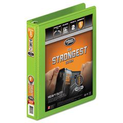 """Heavy-Duty Round Ring View Binder w/Extra-Durable Hinge, 1"""" Cap, Chartreuse"""