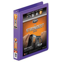 "Heavy-Duty Round Ring View Binder w/Extra-Durable Hinge, 1"" Cap, Purple"