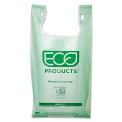 Eco-Products Medium Compostable Shopper Bag, 7 Gal, .80 mil, 50/PK, 10 PK/CT