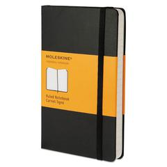 Moleskine Hard Cover Notebook, Ruled, 5 1/2 x 3 1/2, Black Cover, 192 Sheets