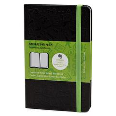 Ruled Evernote Smart Notebook, 5 1/2 x 3 1/2, Black Cover, 192 Sheets