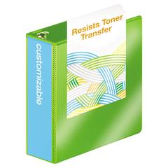 "Heavy-Duty D-Ring View Binder w/Extra-Durable Hinge, 3"" Cap, Chartreuse"