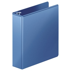 "Heavy-Duty D-Ring View Binder w/Extra-Durable Hinge, 2"" Cap, PC Blue"
