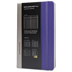 Moleskine Professional Notebook, Plain, 8 1/4 x 5, Brilliant Violet Cover, 240 Sheets