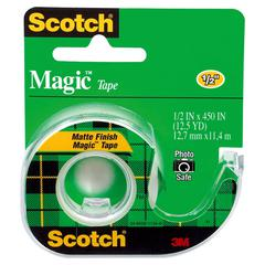 "Magic Tape in Handheld Dispenser, 1/2"" x 450"", 1"" Core, Clear"