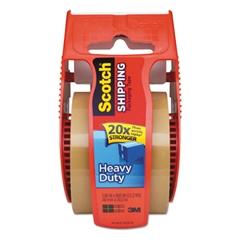 """Scotch 3850 Heavy-Duty Packaging Tape in Sure Start Disp., 1.88"""" x 800"""", Tan"""