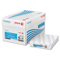 Xerox Vitality 30% Recycled Multipurpose 3-Hole Paper, 8 1/2 x 11, White, 500 Sheets