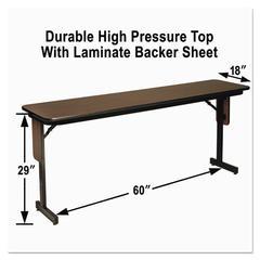 Alera High Pressure Laminate Top Seminar Tables, 60w x 18d x 29h, Walnut
