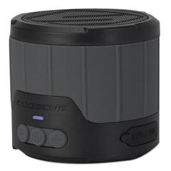 "boomBOTTLE Rugged Weatherproof Speaker, 3 1/4""d, Gray"