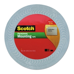 "Scotch Double-Coated Foam Tape, 1/2"" x 36 yards, 1"" Core, White"