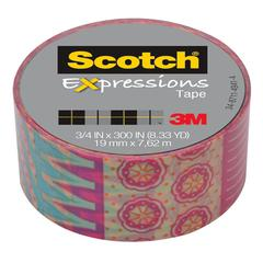 "Scotch Expressions Magic Tape, 3/4"" x 300"", Multicolor Circus"