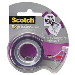 "Expressions Magic Tape w/Dispenser, 3/4"" x 300"", Purple"