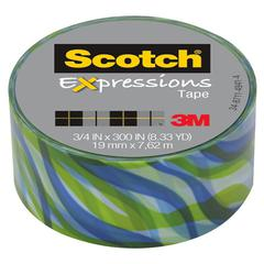 "Scotch Expressions Magic Tape, 3/4"" x 300"", Tropic Wave"