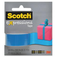 """Scotch Expressions Magic Tape, 3/4"""" x 300"""", Medium Blue"""