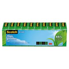 "Scotch Magic Greener Tape, 3/4"" x 900"", 1"" Core, Clear, 10/Pack"