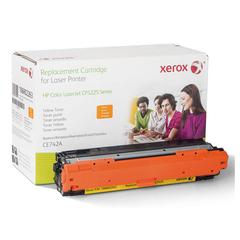 Xerox 106R2263 (CE742A) Compatible Remanufactured Toner, 7300 Page-Yield, Yellow