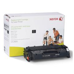 Xerox 6R3206 Compatible Reman CF280X Extended Yield Toner, 10000 Page-Yield, Black