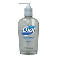 Dial Professional Antimicrobial Soap for Sensitive Skin, 7.5oz Décor Pump Bottle, 12/Carton