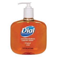 Dial Professional Gold Antimicrobial Liquid Hand Soap, Floral Fragrance, 16oz Pump Bottle