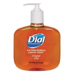 Dial Professional Gold Antimicrobial Hand Soap, Floral Fragrance, 16oz Pump Bottle, 12/Carton
