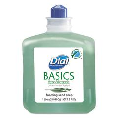 Dial Professional Basics Foaming Hand Wash, Refill, 1000mL, Honeysuckle, 6/Carton