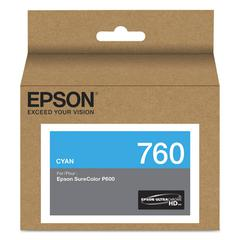 Epson T760220 (760) UltraChrome HD Ink, Cyan