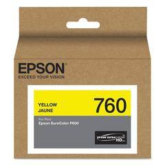 Epson T760420 (760) UltraChrome HD Ink, Yellow
