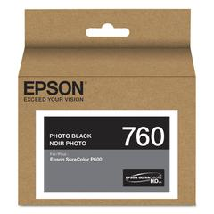 Epson T760120 (760) UltraChrome HD Ink, Photo Black
