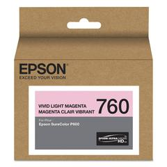 Epson T760620 (760) UltraChrome HD Ink, Vivid Light Magenta
