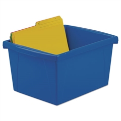 Storage Bins, 10 x 12 5/8 x 7 3/4, 4 Gallon, Assorted Color, Plastic