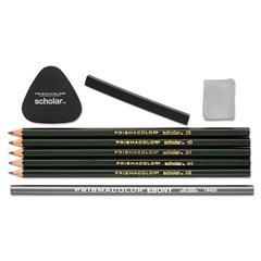 Scholar Erasable Colored Pencil Set, 4B/4H/2B/2H/6B, 9 Assorted Colors/Set